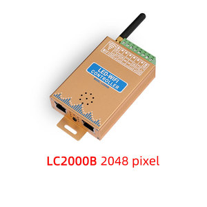 Image 2 - LC2000A/B wifi musical SPI control for LED digital pixel strip light,1024 2048 pixel LED screen controller, with built in mic