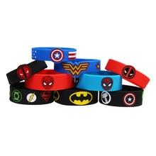 10 pçs pulseiras de silicone comic para crianças presente do dia da família pai-criança pulseira