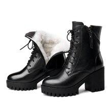 AIYUQI Women bare boots 2020 new genuine leather women boots  natural wool warm women winter naked boots  winter women shoe