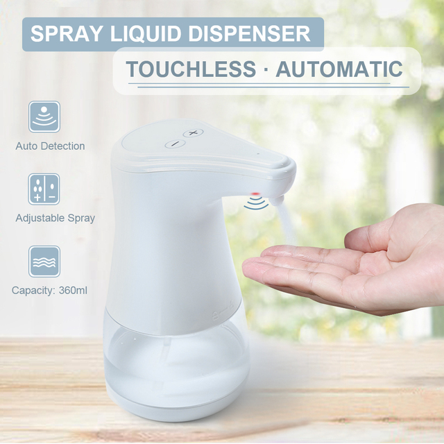 Automatische Spray Flüssigkeit Dispenser Einstellbare Wässrig Hand Sterilisator Zerstäuber Desinfektionsmittel Nebel Touchless Infrarot Motion Sensor