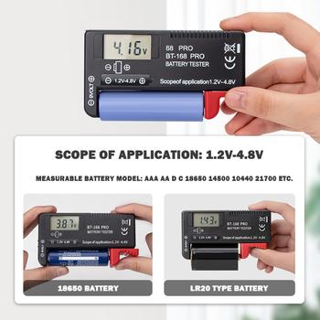 strong Import List strong Hot -168 PRO precyzyjny Tester pojemności baterii litowej wyświetlacz cyfrowy przyrząd do pomiaru naładowania akumulatora tanie i dobre opinie Urijk NONE CN (pochodzenie) ELECTRICAL 111*60 5*26mm black Battery Checker Digital Battery Tester Battery Capacity Tester