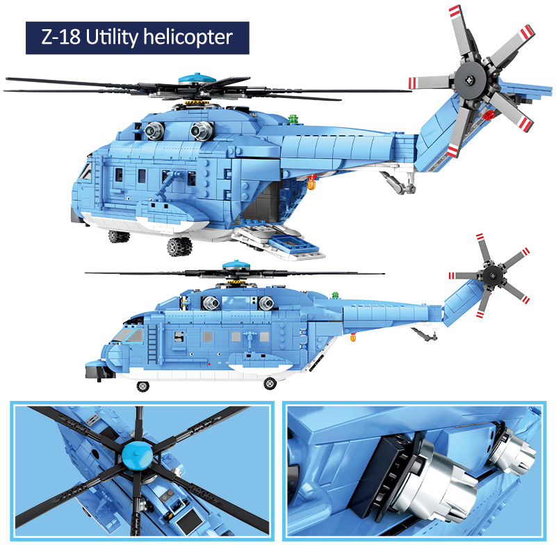 SEMBO Block Military Z-18 Helicopter Fighter
