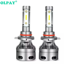 OLPAY 2Pcs 60W H7 Led H4 Headlight Car Lamps with COB Chip 6000K 12v/24v H1 H8 H9 H11 9005/HB3/H10 9006/HB4 Head Bulbs