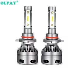 OLPAY 2Pcs 60W H7 Led H4 Headlight Car Led Lamps with COB Chip 6000K 12v/24v H1 H7 H8 H9 H11 9005/HB3/H10 9006/HB4 Head Bulbs all in one 2x 30w 3600lm gen 2s led car headlight 9005 hb3 cree chip eti chips 12 24v car headlight led headlight conversion kit