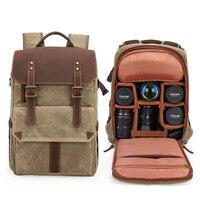 MAHEU New camera SLR backpack waterproof large capacity wax dyed rucksack outdoor travel camera canvas bag big man backpack
