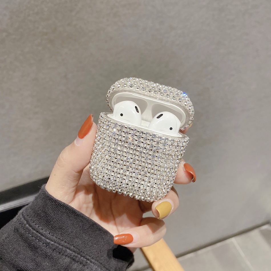 For AirPods Pro Case Luxury Glitter 3D Diamond Earphone Cover For AirPods 3 Airpods 2 Bling Bling Hard Protect Case For AirPods