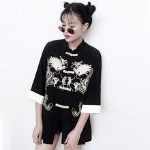 Tangsuit китайский стиль рубашка Дракон традиционная китайская одежда для женщин винтажные вечерние модные куртки ушу ханьфу вышивка