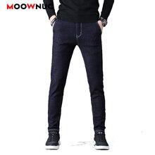 Jeans For Men Casual Streetwear Autumn Jeans Male Trousers MOOWNUC Pants Classic Mens Jeans Skinny Denim Slim Designer Straight brand jeans men new arrivals vintage pants men s raw denim jeans warm slim male casual straight designer trousers