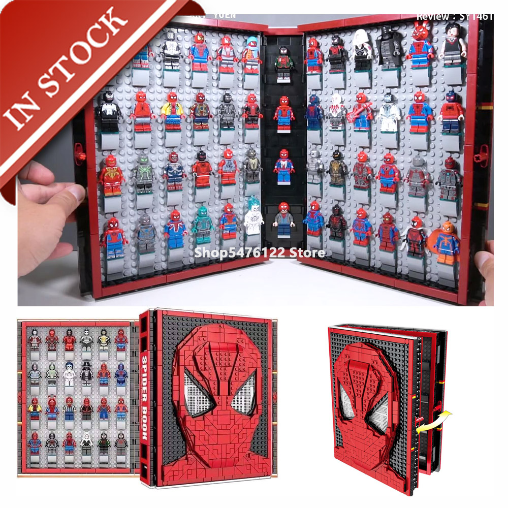 Super Heroes Series Spider Book Sy1461 In Stock Building Block 2895Pcs Bricks Toys DC Movies Avengers Spiderman Marvel Toys