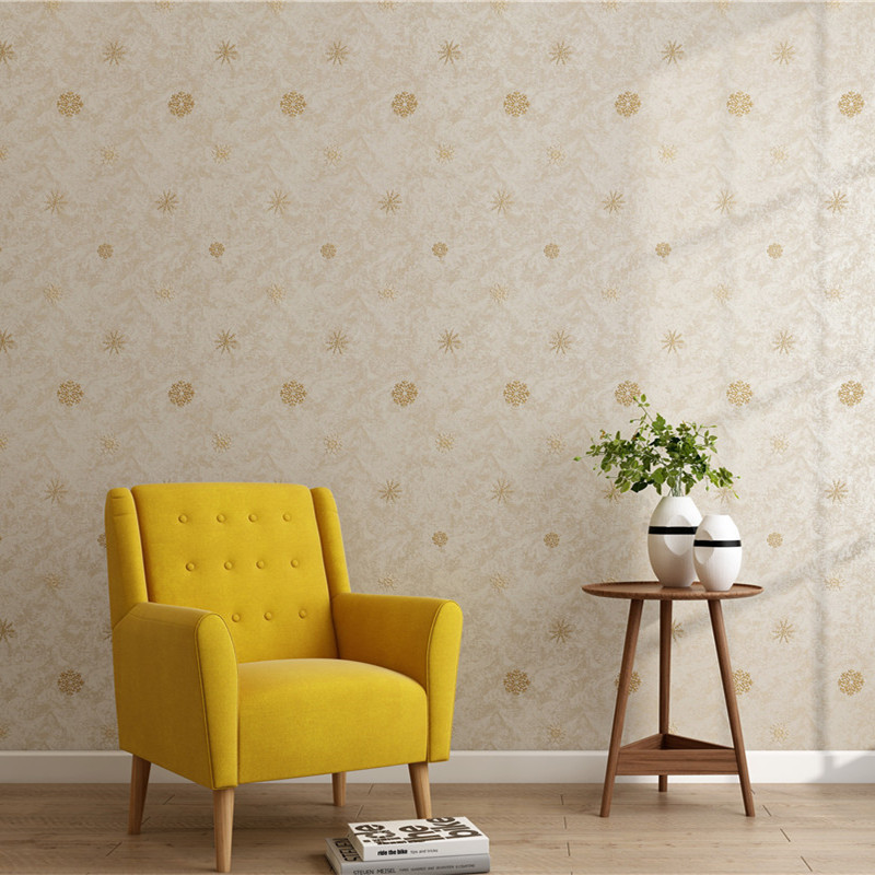 Top Grade Embroidered Seamless Wall Cloth Bedroom Living Room High-End Customizable Wall Covering Fabric Wallpaper Modern Minima