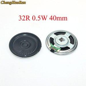 Chenghaoran 5 pces alto-falante ultra-fino 32 ohms 0.5 watt 0.5 w 32r diâmetro do orador 40mm 4cm espessura 5mm