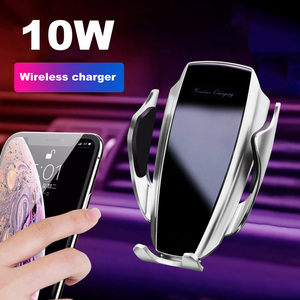 Image 2 - Car Wireless Charger Automatic Clamping For iPhone 11 Pro XS MAX X 10W Quick Charge For Samsung Huawei P40 P30 Pro Phone Holder
