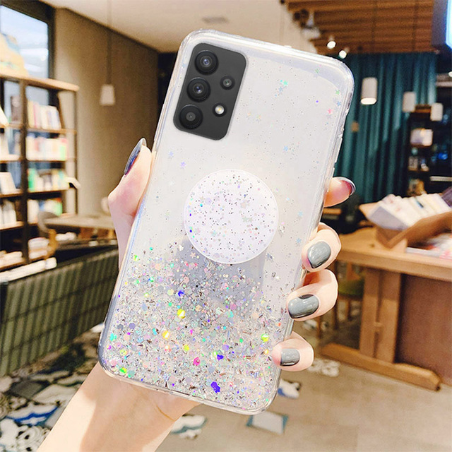 Bling Glitter Case For Samsung Galaxy A51 A52 Cases A50 A70 A71 A21s S20 Plus FE S21 Ultra S10 A32 A31 S9 A12 A72 A20e A41 Cover 6