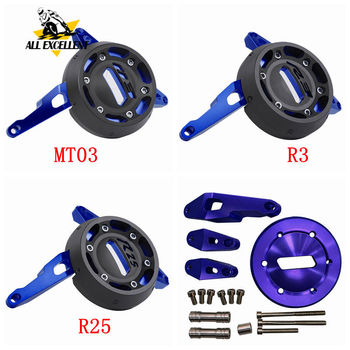 Engine Stator Protective Frame Cover Slider CNC Aluminum For YAMAHA R3 R25 MT03 MT 03 YZF-R3 R 3 25 YZF-R25 1 Set (Right Side)