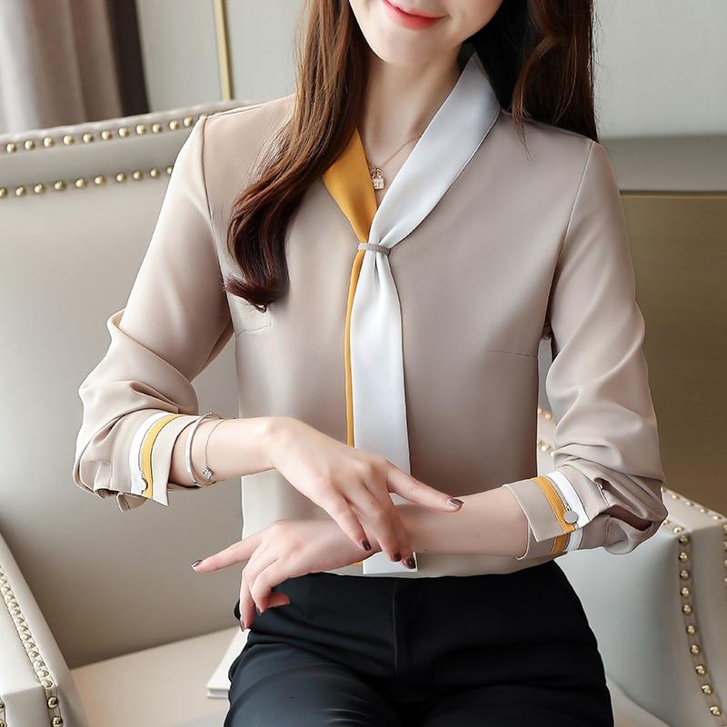 Korean Fashion Chiffon Women Blouses Women Shirts Plus Size XXL Womens Tops And Blouses Office Lady Blusas Femininas Elegante