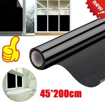 Rimovibile Blackout Statica Cling Window Film Privacy Camera UV di Protezione Blocco di Sole di Sole Oscuramento Finestra Tinta Riutilizzabile Adesivo