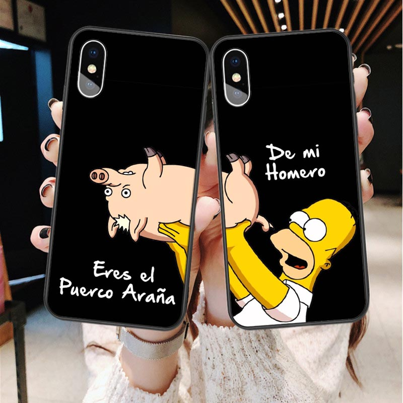 Girls <font><b>Bff</b></font> Best Friends Forever Black Soft Phone <font><b>Cases</b></font> For <font><b>iPhone</b></font> 7 7 Plus 6 6S 8 Plus X XR XS MAX 5S <font><b>SE</b></font> Cute Couple Coque Cover image