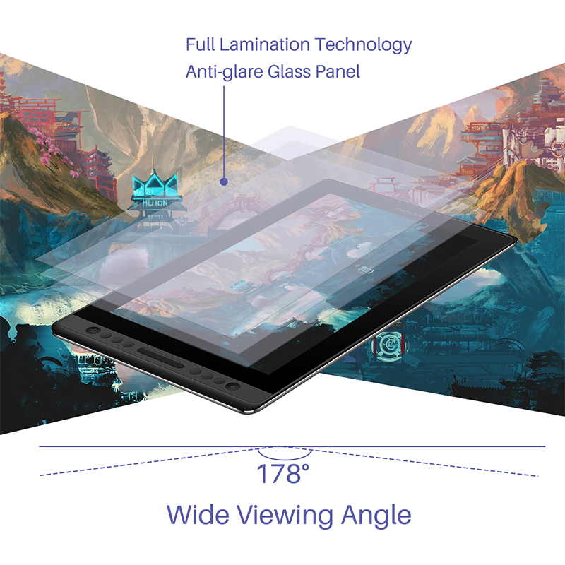 Image 4 - Huion Kamvas Pro 16 Drawing Pen Tablet Monitor Digital Graphic Tablet Pen Display Monitor 15.6 inch with Battery free StylusDigital Tablets   -