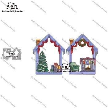 New Dies 2020 Christmas in the house Metal Cutting diy photo album cutting dies Scrapbooking Stencil stamps metal