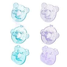 Cute Baby Pacifier Safe Newborn Infant Toddlers Silicone Nipple Soother Anti-dust Lid Teether