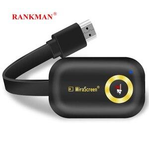 RANKMAN Mirascreen EZcast Anycast, bâton de télévision sans fil, récepteur d'affichage WiFi, HDMI, Dongle Miracast, DLNA Airplay pour Android, pour IOS