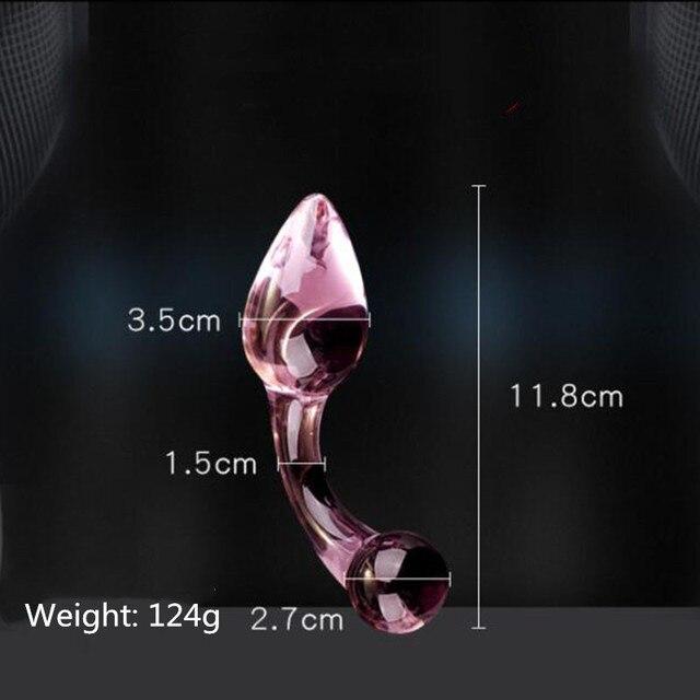 Twisted glass anal plug