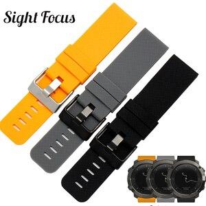 Sight Focus 24 мм резиновый ремешок для часов Suunto TRAVERSE Series Alpha Spartan силиконовый ремешок для наручных часов Оранжевый Черный Серый