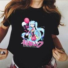 Graphic Tees Women 90s Anime T Shirt Hatsune Miku Aesthetic Ulzzang Casual Harajuku Tops Tee Female
