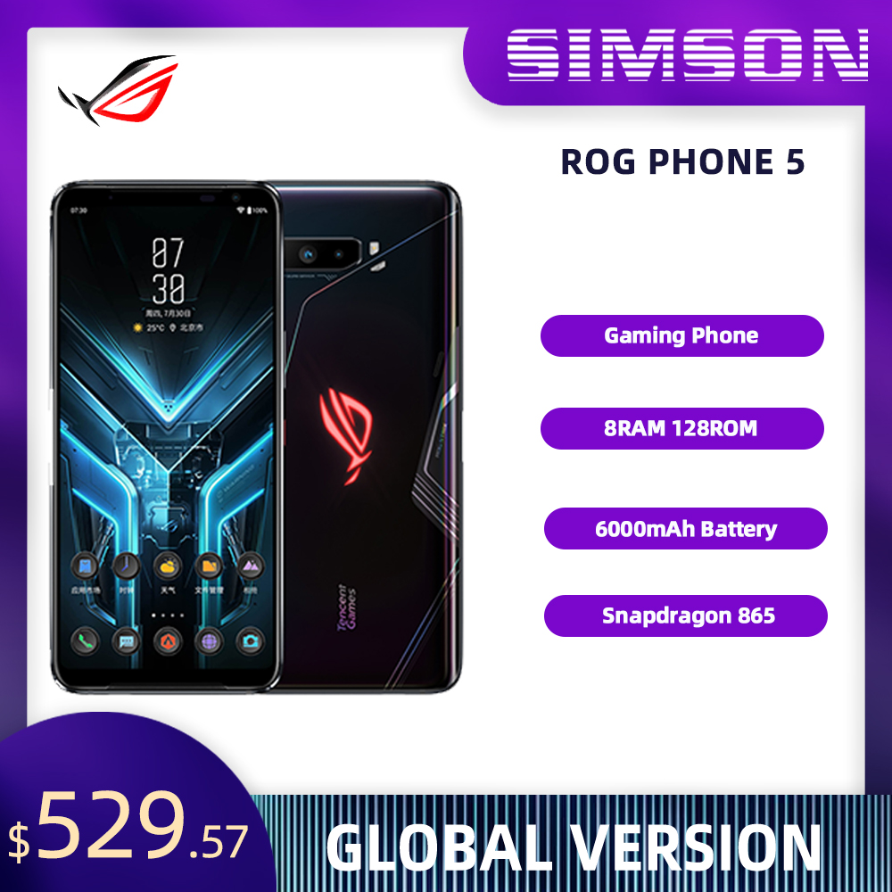 ASUS ROG Phone 3 5G игровой телефон Snapdragon 865 плюс 8RAM 128ROM 6000 мА/ч, 144 Гц 2SIM карта NFC ROG3 смартфон оригинал