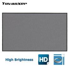 Светоотражающая ткань проектор Экран 60 72 100 120 133 дюймов 16:9 4:3 для XGIMI H2 Z6 UC46 UC40 YG400 JMGO проектор Proyector