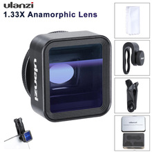 17mm Universal 1.33X Anamorphic Phone Lens for iPhone Xs Max X Huawei P20 Pro Mate Movie Shooting Film Making