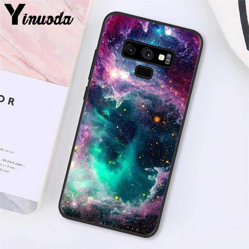 Yinuoda الفضاء ل galaxy الكون ستار الهاتف حقيبة لهاتف سامسونج galaxy A50 Note7 5 9 8 Note10 برو J5 J6 رئيس J610 j6Plus J7 الثنائي