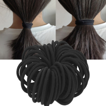 50pcs Women Girls Hairbands Basic Hair Ties Elastic Rubber Bands Ropes Hairband Ponytail Holders 3mm 4mm 6mm Thin Thick - discount item  30% OFF Headwear