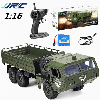 JJRC Q75 RC Auto 116 2,4 Ghz Military Auto Off-Road Rock Crawler RC Fahrzeuge Halbe Skala Sechs-Räder Lkw Spielzeug Geschenk für Kinder