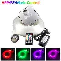 Dźwięk aktywny zestaw oświetleniowy światłowodowy 32W RGB Twinkle efekt kontroler rf 800 sztuk/1000 sztuk światłowód z kontrolerem APP w Oświetlenie światłowodowe od Lampy i oświetlenie na