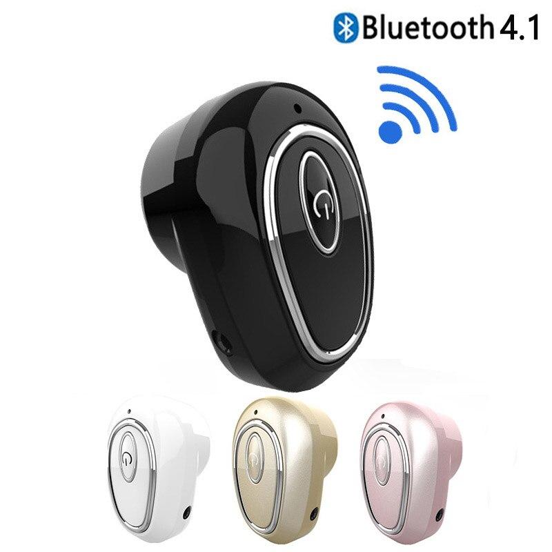Беспроводные наушники S650X Bluetooth 4,1, спортивные мини-наушники-вкладыши с микрофоном, гарнитура для IPhone, xiaomi, LG