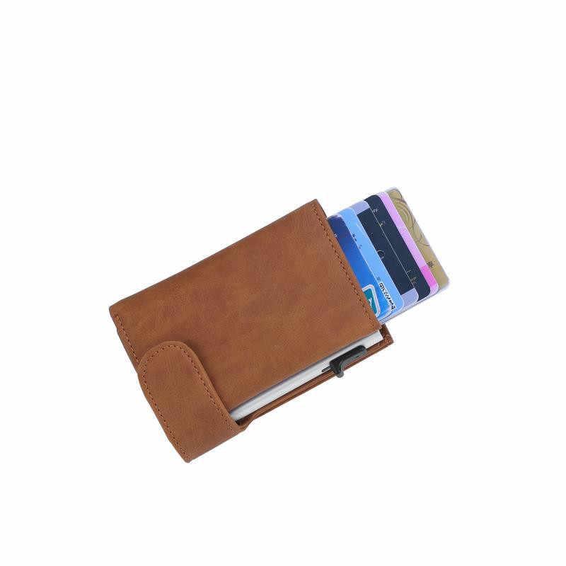 Bisi Goro Rfid Anti-Diefstal Mannen Smart Wallet Credit Card Porte Carte Fashion Card Case Paspoorthouder Unisex Coin portemonnee