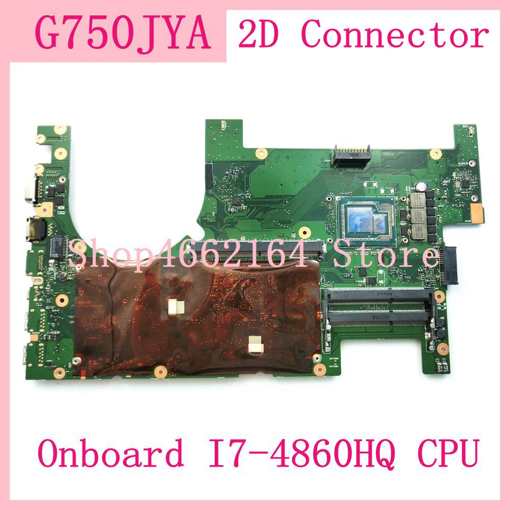 G750JYA Onboard I7-4860HQ CPU Mainboard For ASUS G750JZ G750JYA G750JY G750J Laptop Motherboard 100% Tested Free Shipping