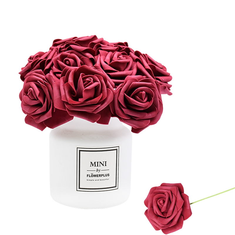 24Pcs/lot Artificial Rose Bouquet Decorative Foam Rose Flowers Bride Bouquets for Wedding Home Party Decoration Wedding Supplies|Artificial & Dried Flowers|   - AliExpress