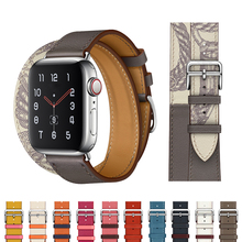 Strap for apple watch band 44 mm 40mm Genuine Leather iwatch band 42mm 38mm Single tour bracelet watchband for apple watch 5 4 3 genuine leather watchband strap for apple watch band 42mm 38mm