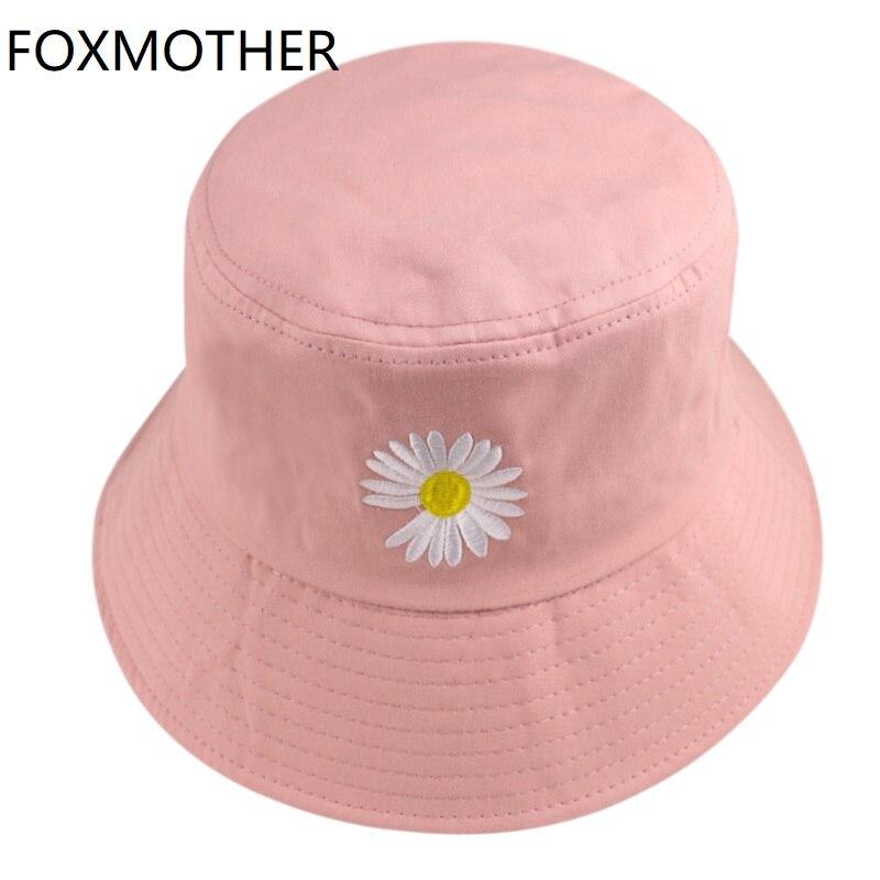 FOXMOTHER-gorros de pescador para hombre y mujer, gorros de pescador con estampado Floral de margaritas, 2020
