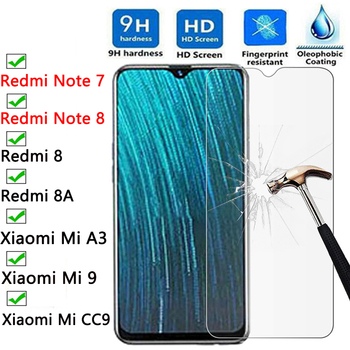 Перейти на Алиэкспресс и купить Защита переднего экрана для Redmi Note 8 Pro защитное стекло на Redmi 8A Note 7 закаленное стекло для Xiaomi Mi 9 Lite CC9 CC9e A3