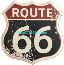 Rota 66 sinais de estrada do vintage sinais de metal de alta maneira estanho sinal para decoração da parede arte 12