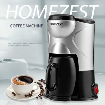 Coffee & Tea Maker Stylish Home Portable Fully Automatic Mini American Coffee Machine Black And Pink EU plug 220V