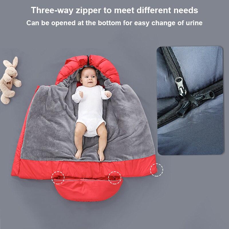 Image 5 - Śpiworki dziecięce do wózka spacerowego zimowe grube ciepłe rożek dla noworodka niemowlę wiatroodporny kokon wózek Sleepsacks Foo FooTorby do spaniaMatka i dzieci -