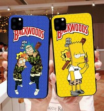 rick and morty backwoods Soft TPU silicone phone cover case for iPhone 11 Pro MAX  SE 5 5S 6 6SPlus 7 8Plus XR XS X10