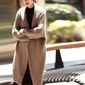 ropa mujer invierno 2019Women Autumn Winter Thick Warm Oversized Long Yak Cashmere Sweater Brief Casual Lazy cardigan femme Coat