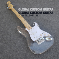 2019 High quality China electric guitar, Acrylic guitar with LED lights,Custom electric guitar, free shipping