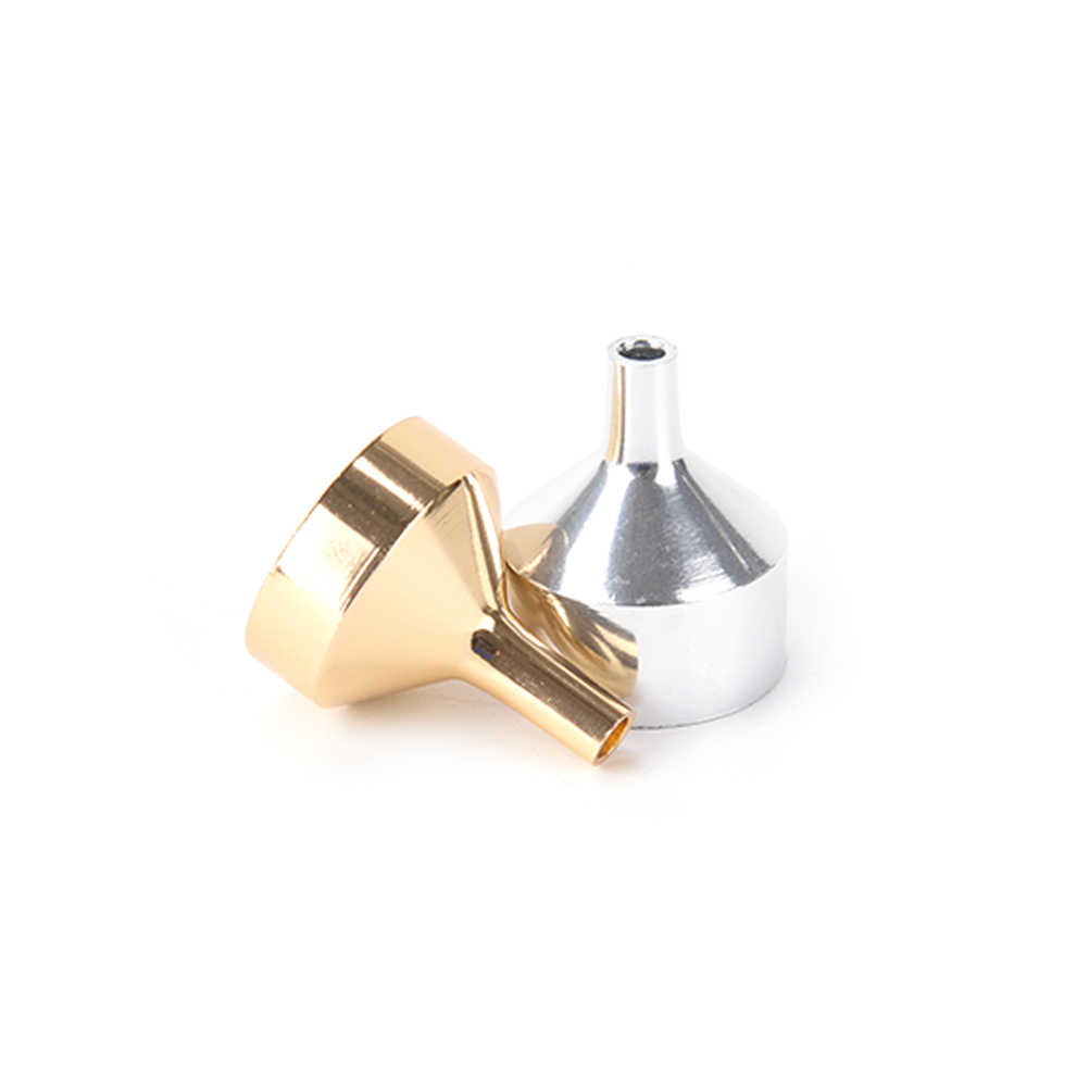 1Pcs อลูมิเนียมช่องทางมินิครัวช่องทางขนาดเล็กปากช่องทางสำหรับบรรจุเกลือพริกไทยสมุนไพรน้ำมัน Liquid ห้องครัวพิเศษเครื่องมือ