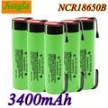 2020 новый оригинальный 18650 Батарея NCR18650B 3,7 V 3400 мА/ч, 18650 Литий Перезаряжаемые Батарея сварки Никель листовые батареи